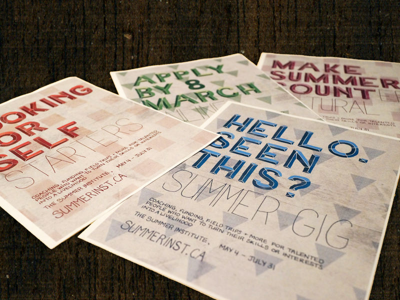 Hand Lettered Posters